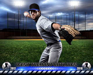 SPORTS POSTER PHOTO TEMPLATE - HOMETOWN BASEBALL - PHOTOSHOP SPORTS TEMPLATE