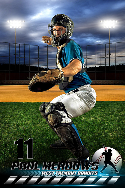 Player Banner Sports Photo Template Hometown Baseball