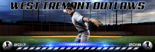 PANORAMIC SPORTS BANNER TEMPLATE - HOMETOWN BASEBALL - LAYERED PHOTOSHOP SPORTS TEMPLATE