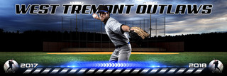 PANORAMIC SPORTS BANNER TEMPLATE - HOMETOWN BASEBALL II - LAYERED PHOTOSHOP SPORTS TEMPLATE