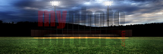 DIGITAL BACKGROUND - HOMETOWN BASEBALL II - PANORAMIC