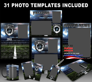 AMERICAN SOCCER COLLECTION - PHOTOSHOP SPORTS TEMPLATE COLLECTION