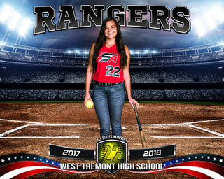 SPORTS POSTER PHOTO TEMPLATE - AMERICAN SOFTBALL - PHOTOSHOP SPORTS TEMPLATE