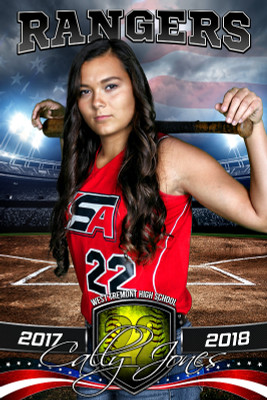 PLAYER BANNER PHOTO TEMPLATE - AMERICAN SOFTBALL - PHOTOSHOP SPORTS TEMPLATE