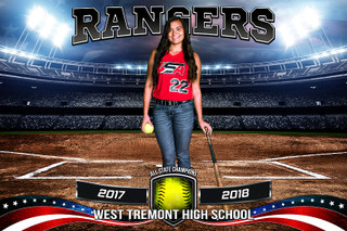 PLAYER & TEAM BANNER PHOTO TEMPLATE - AMERICAN SOFTBALL - PHOTOSHOP SPORTS TEMPLATE