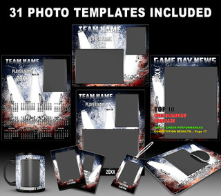Splash Cheerleading Photo Template Collection
