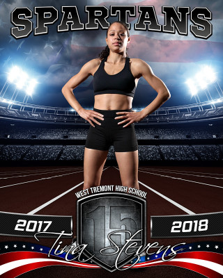 SPORTS POSTER PHOTO TEMPLATE - AMERICAN TRACK - PHOTOSHOP SPORTS TEMPLATE