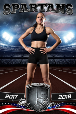 PLAYER BANNER PHOTO TEMPLATE - AMERICAN TRACK - PHOTOSHOP SPORTS TEMPLATE