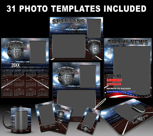 AMERICAN TRACK & FIELD COLLECTION - PHOTOSHOP SPORTS TEMPLATE COLLECTION