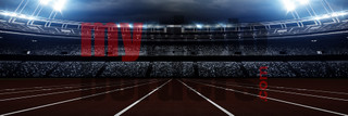 DIGITAL BACKGROUND - AMERICAN TRACK - PANORAMIC