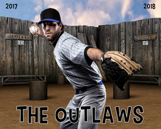 SPORTS POSTER PHOTO TEMPLATE - SANDLOT - LAYERED PHOTOSHOP SPORTS TEMPLATE
