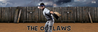 PANORAMIC SPORTS BANNER TEMPLATE - SANDLOT - LAYERED PHOTOSHOP SPORTS TEMPLATE