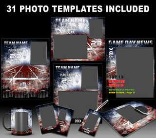 Splash Track and Field Photo Template Collection