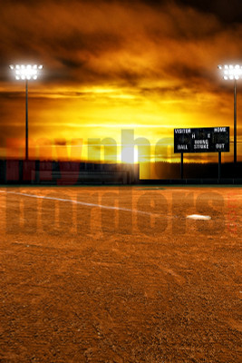 DIGITAL BACKGROUND - BALL FIELD