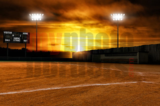 DIGITAL BACKGROUND - BALL FIELD - HORIZONTAL