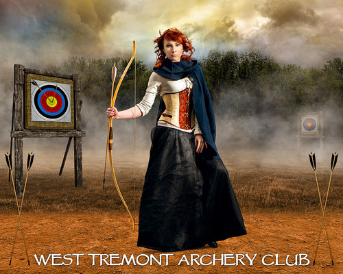 SPORTS POSTER PHOTO TEMPLATE - ARCHERY RANGE - LAYERED PHOTOSHOP SPORTS TEMPLATE