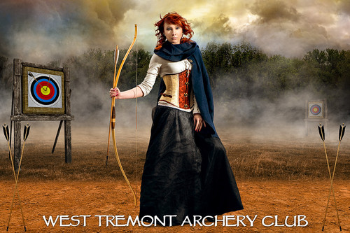 PLAYER BANNER PHOTO TEMPLATE - ARCHERY RANGE - LAYERED PHOTOSHOP SPORTS TEMPLATE