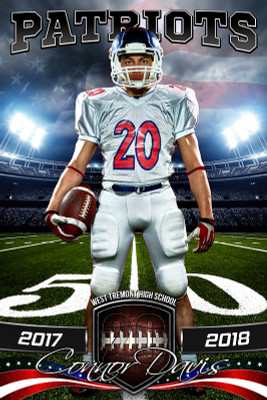 PLAYER BANNER PHOTO TEMPLATE - AMERICAN FOOTBALL - PHOTOSHOP SPORTS TEMPLATE