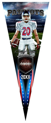 PENNANT PHOTO TEMPLATE - AMERICAN FOOTBALL
