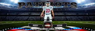 PANORAMIC SPORTS BANNER TEMPLATE - AMERICAN FOOTBALL - LAYERED PHOTOSHOP SPORTS TEMPLATE