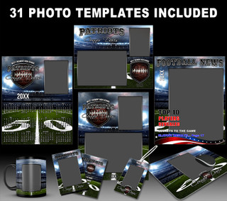 AMERICAN FOOTBALL COLLECTION - PHOTOSHOP SPORTS TEMPLATE COLLECTION