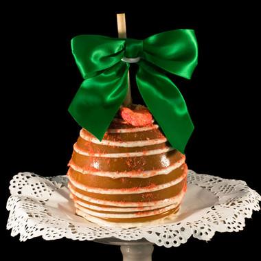 Strawberries & Cream Caramel Apple from DeBrito Chocolate Factory