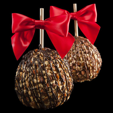 Almond Obsession caramel apple from DeBrito Chocolate Factory.