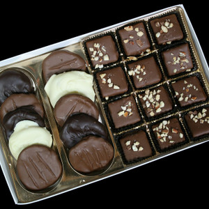 Gourmet Boxed Butter Almond Toffee and Chocolate Covered Apricots from DeBrito Chocolate Factory