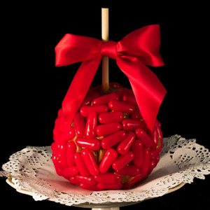 Hot Tamale Caramel Apple by DeBrito Chocolate Factory