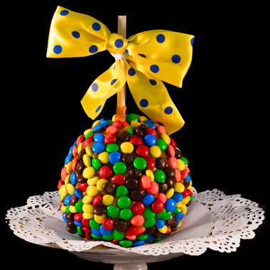 M&M Monster Caramel Apple by DeBrito Chocolate Factory