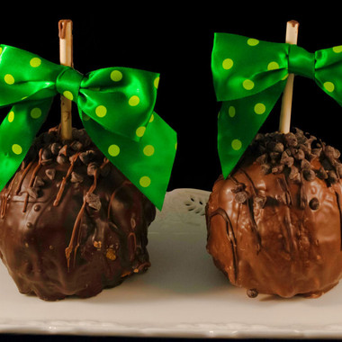 The Volcano Caramel Apple from DeBrito Chocolate Factory