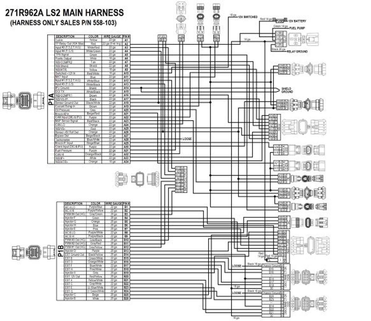 holley ls hp efi ecu  u0026 harness kit 550 602n 24x reluctor