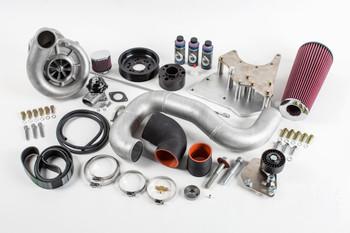 Supercharger Kit, 2001-2002 6.0L Truck/SUV, V-2 SQ Sci-Trim, Polished Finish - Vortech Superchargers 4GL218-048SQ