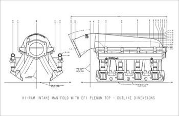 Holley Hi-Ram LS3 105mm EFI Intake Manifold 300-117BK