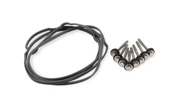 Mr Gasket Fabricated Aluminum GM LS Valve Covers 6827BG - Black