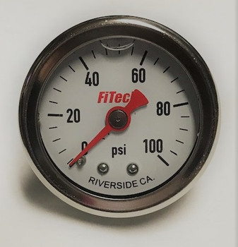 FiTech Oil Filled 0-100 PSI Fuel Pressure Gauge 80117