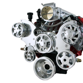 GM LS Polished Front Accessory Drive Kit