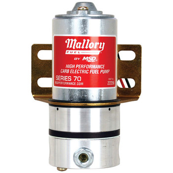 Mallory Carb Electric Fuel Pump 22256 - Series 70