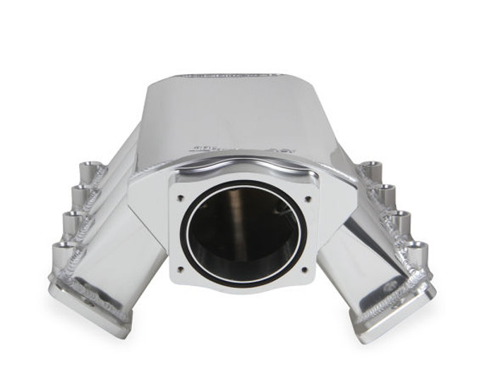 Holley Sniper Hi-Ram LS3 102mm EFI Intake Manifold & Fuel Rail Kit 822041 - Fabricated, Silver with Sniper logo