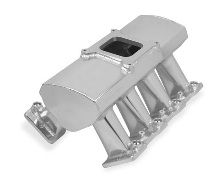 Holley Sniper Hi-Ram LS3 EFI Intake Manifold & Fuel Rail Kit 822051 - Fabricated, Single Plane, 4150 Flange, Silver Finish