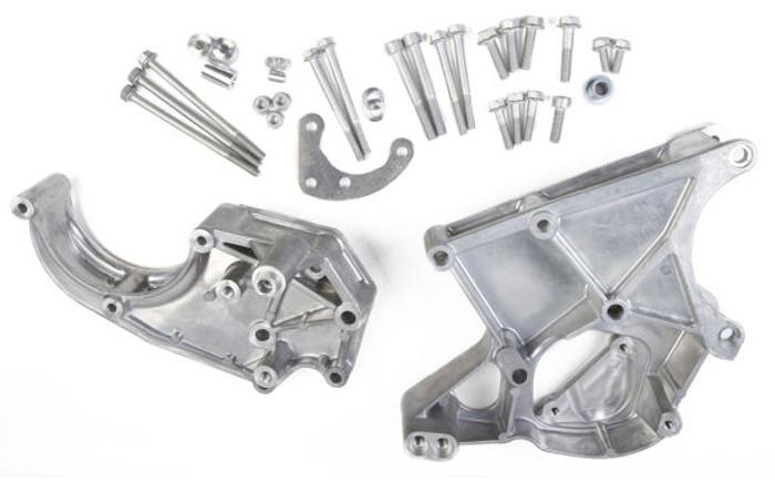 Holley LS Power A/C, Steering & Alternator Bracket 20-132