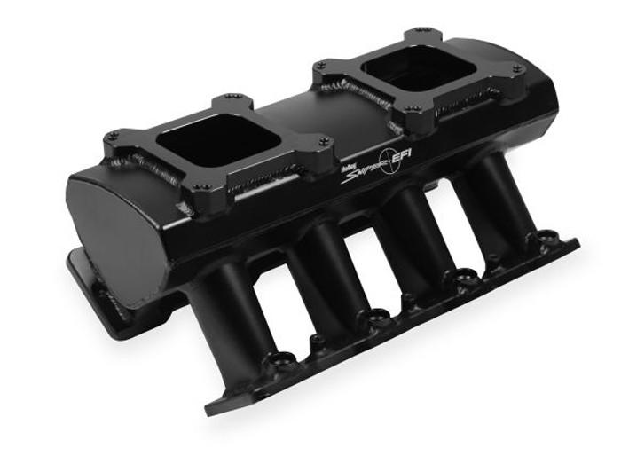 Holley Sniper Hi-Ram LS7 Intake Manifold & Fuel Rail Kit 830072 - Fabricated, 2x4 EFI, Black Finish