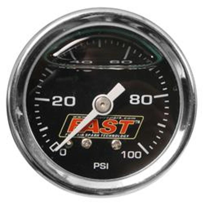 FAST LSX/LSXR/LSXRT EFI Fuel Pressure Gauge 54027G - 0-100 PSI