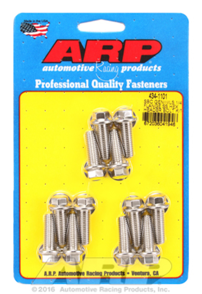 "ARP GM LS Hex Bolt Kit for 1/4"" Wide Flange Headers 434-1101"