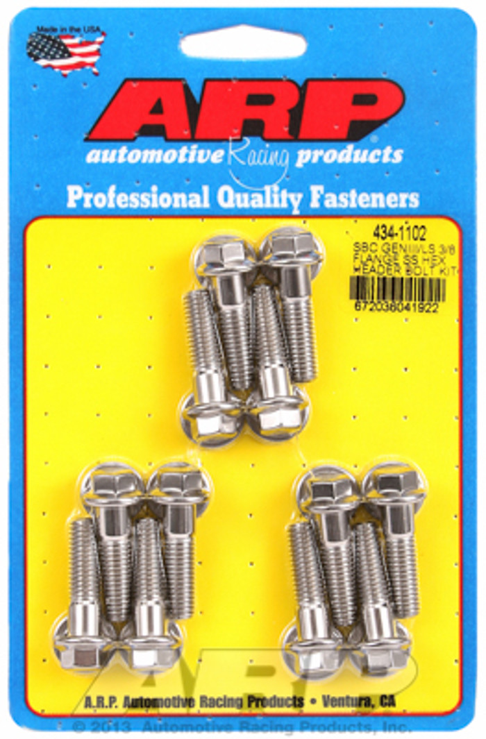 "ARP GM LS Hex Bolt Kit for 3/8"" Wide Flange Headers 434-1102"