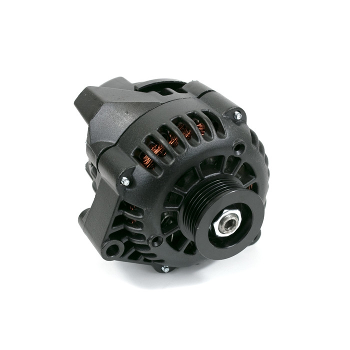 GM LS Car Alternator CS130D Style High Output 180 Amp Black
