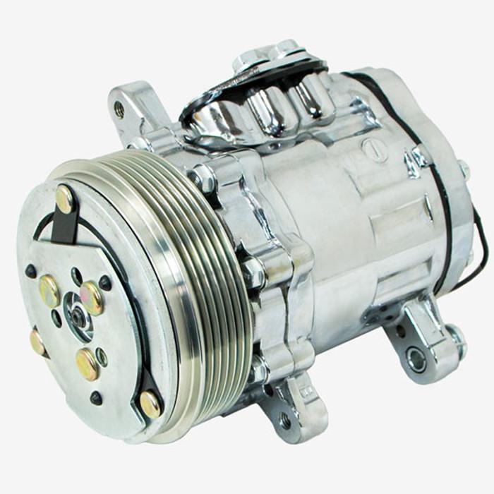 Sanden SD-7 Style Chrome A/C Compressor