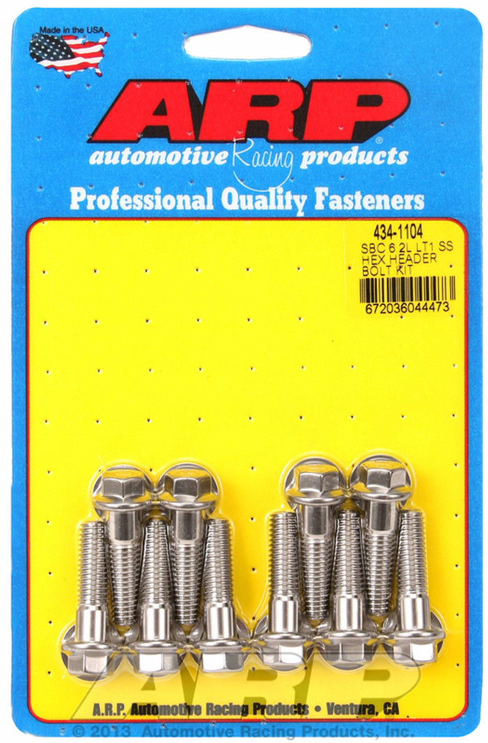 ARP Gen V LT1/LT4 Headers Stainless Hex Bolts 434-1104
