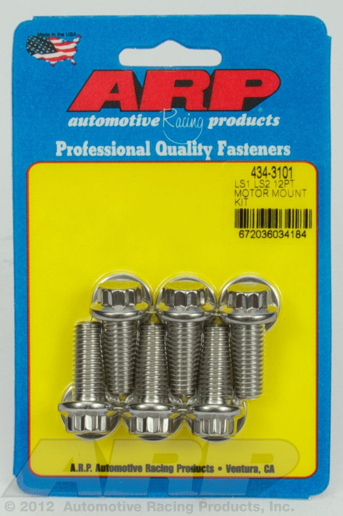 ARP GM LS Motor Mount Stainless 12-Point Bolts 434-3101
