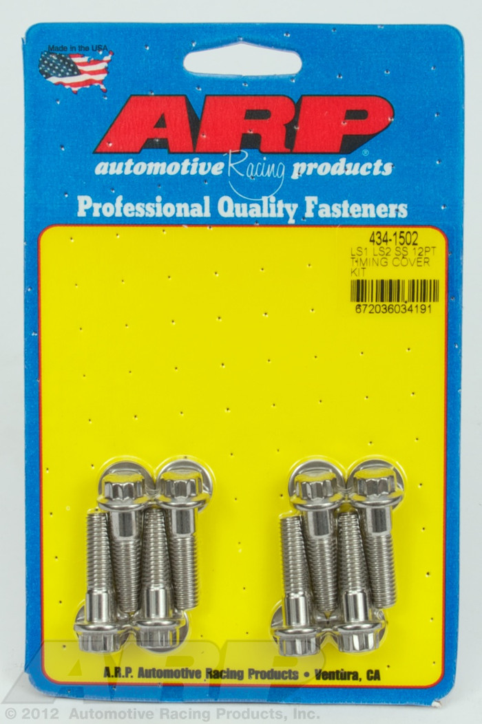 ARP GM LS Timing Cover Stainless 12-Point Bolts 134-4502